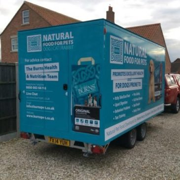 Burns Pet Foods take delivery of new CES Boxer exhibition trailer at Crufts