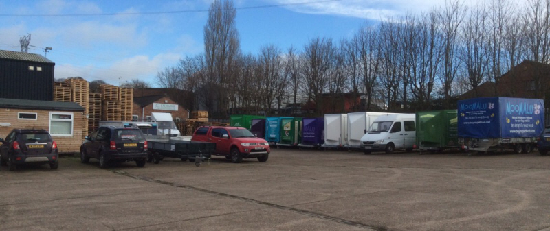 New and used exhibition trailers available at our Grantham depot