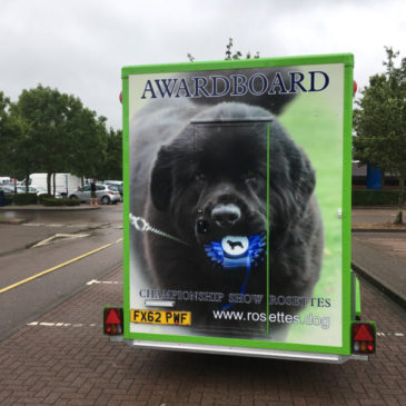 Awardboard launch ther new boxer exhibition trailer at Windsor dogshow