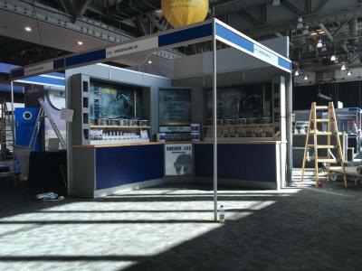 Sweden care indoor exhibition stand at BEVA horse show Liverpool