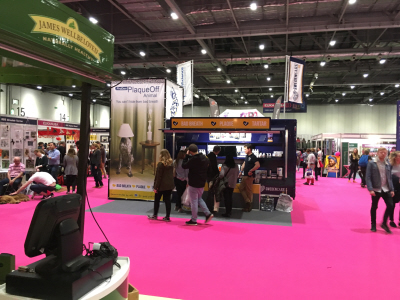 Discover Dogs  Sweden Care, new exhibition trailer in indoor setup with our exclusive Power tower option