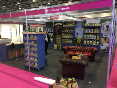 James Wellbeloved Shell Scheme stand at The London Vetshow