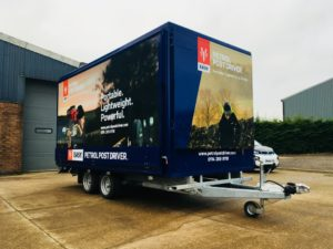 New 4 Mtr Petrol Post Driver exhibition trailer