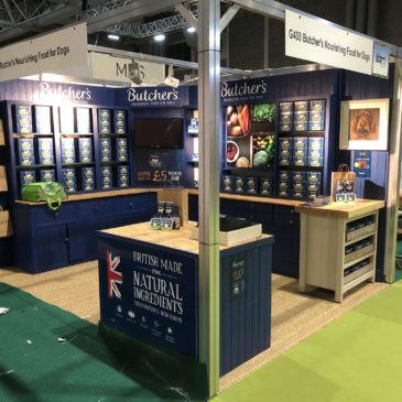 Butchers Pet Care exhibition stand at BBC Gardeners World