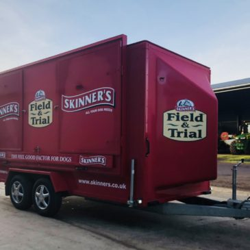 Skinners Petfoods take Delivery of second Boxer Exhibition Trailer