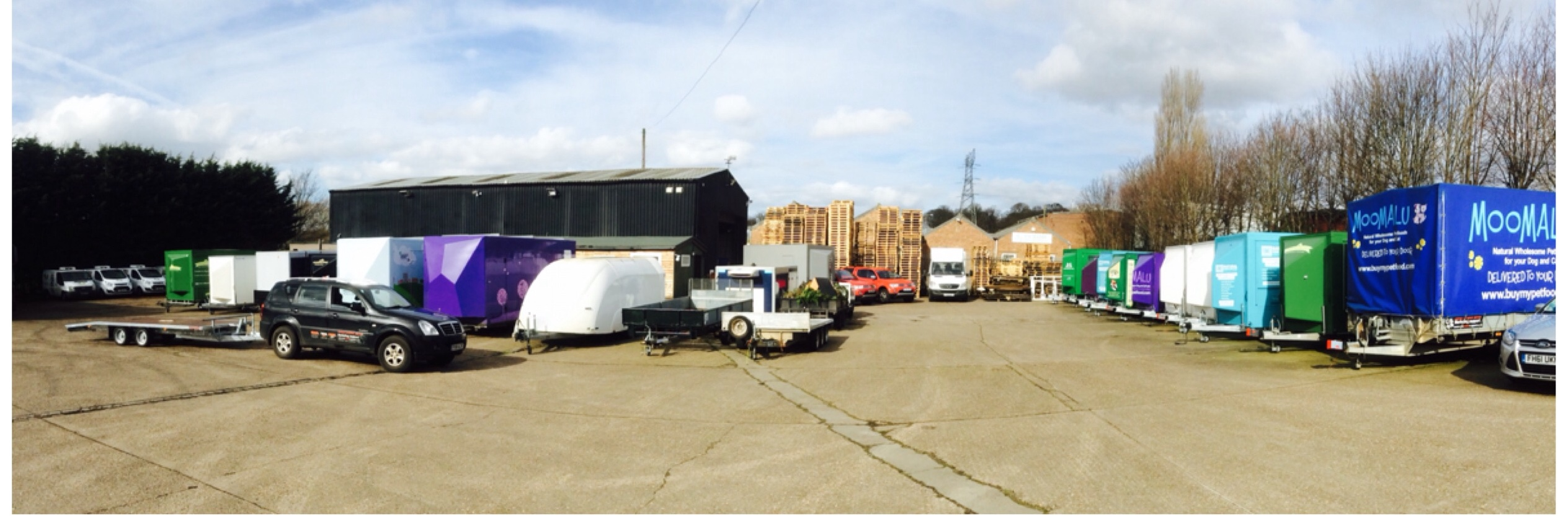 contract exhibition services trailers marketing support