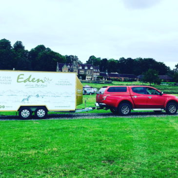 Delivery of Eden Petfoods to first outdoor event since lockdown