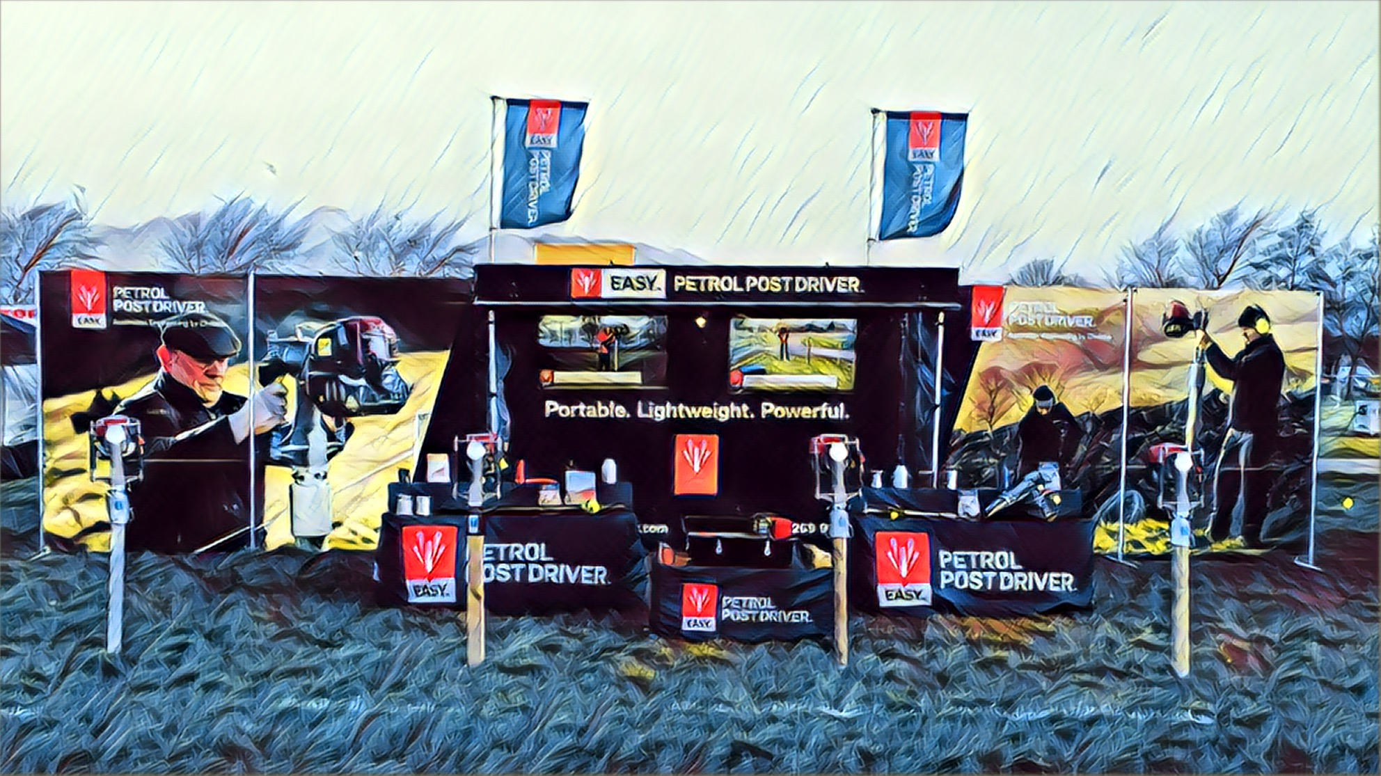 Contract exhibition services outdoor event stands